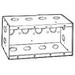 Thepitt TP686 5-Gang Masonry Box; 2-1/2 Inch Depth, Steel, 77.5 Cubic-Inch, Natural