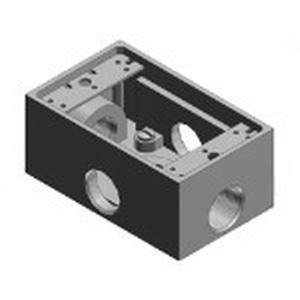 Thomas & Betts TX14-5-FP CorroStall™ 1-Gang FS/FD Box; 2 Inch Depth, Aluminum Alloy, 3/4 Inch Outlet