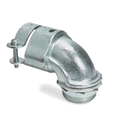 Thomas & Betts 273-TB Non-Insulated 90 Degree Squeeze Connector; 1 Inch, Malleable Iron, Zinc-Plated