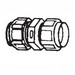 Thomas & Betts 5120 EMT Coupling; 1/2 Inch, Steel With Nylon Liner, Male