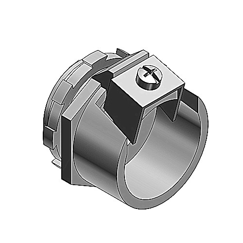 Thomas & Betts 306 Tite-Bite® Non-Insulated Connector; 1 Inch, Malleable Iron, Electro-Plated Zinc