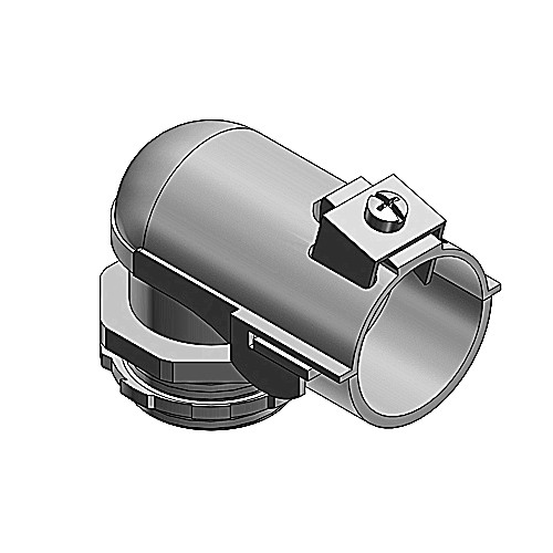 Thomas & Betts 323 Tite-Bite® Non-Insulated 90 Degree Connector; 1/2 Inch, Steel, Electro-Plated Zinc