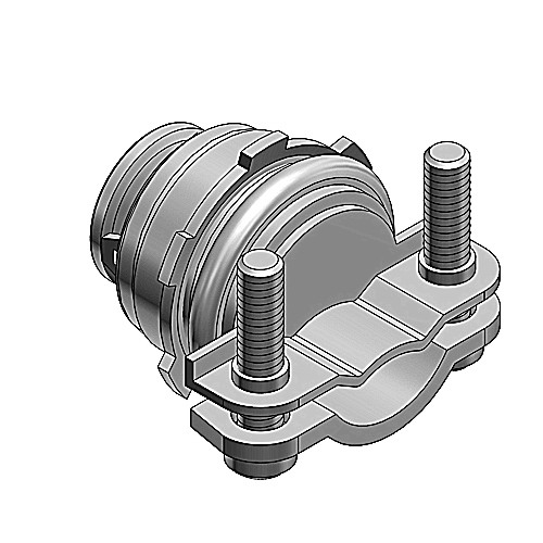 Thomas & Betts 3301-TB Non-Insulated Connector; 3/8 Inch, Steel
