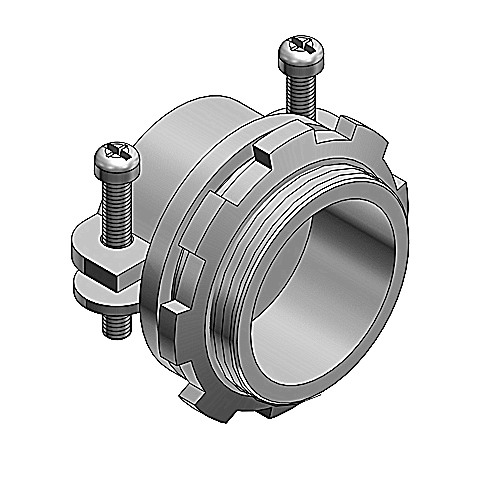 Thomas & Betts 3302-TB Non-Insulated Connector; 1/2 Inch, Steel, 2-Screw Clamp Mount
