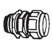 Thomas & Betts 5221 Insulated Compression Connector; 3/4 Inch, Steel, Electro-Plated Zinc