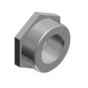 Thomas & Betts 1250-TB Reducer; 3/4 Inch x 1/2 Inch, FNPT, Malleable Iron