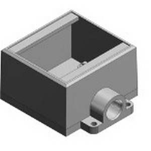Thomas & Betts FD22-TB Deep Dead-End 2-Gang FD Cast Device Box 2 Inch Depth  Iron  Gray  3/4 Inch Hub