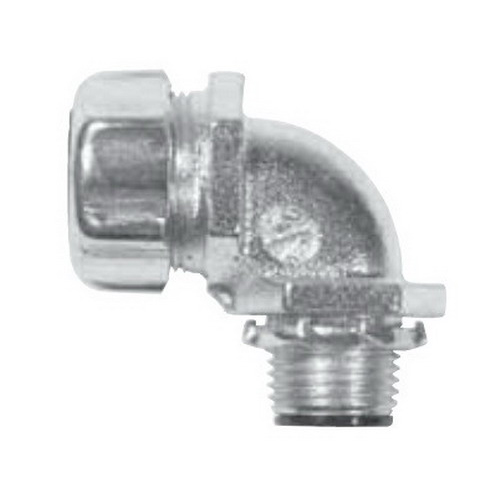 Thomas & Betts 5352-HT Sure-Tight Insulated 90 Degree Liquidtight High Temperature Flexible Metal Conduit Connector 1/2 Inch- Steel- Zinc-Plated/Clear Chromate-