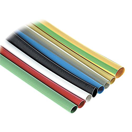 Thomas & Betts CPO250-0-6 Shrink-Kon® 2:1 Ratio Thin Wall Heat Shrinkable Tubing; 0.250 Inch x 6 Inch, 16-10 AWG, Black