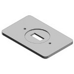 Thomas & Betts DS32-TB 1-Gang Switch Cover; Sheet Steel