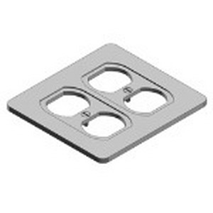 Thomas & Betts S232-TB Duplex Receptacle 2-Gang Cover; Sheet Steel