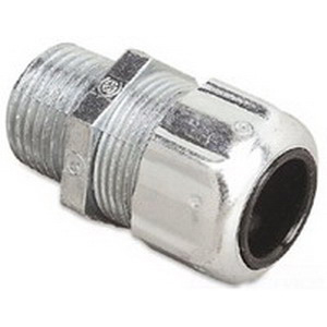 Thomas & Betts 2922 Ranger® Liquidtight Strain Relief Connector; 1/2 Inch Threaded, 0.500 - 0.750 Inch, Steel