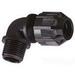 Thomas & Betts 4960NM Ranger® 90 Degree Liquidtight Strain Relief Connector; 1/2 Inch Threaded, 0.125 - 0.375 Inch, Nylon