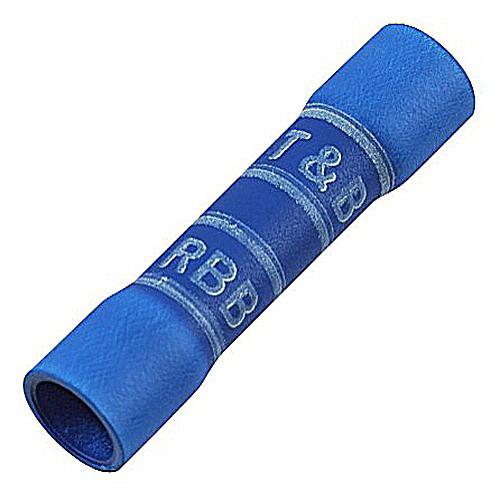 Thomas & Betts RBB217-200 RBB Series Expanded Vinyl Insulated Butt Splice; 16-14 AWG, Blue, Bulk