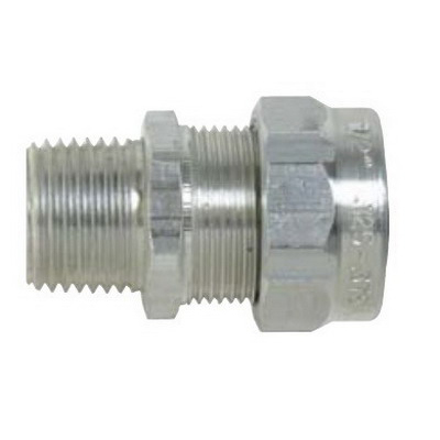 Thomas & Betts 2932AL Ranger® Liquidtight Strain Relief Connector; 3/4 Inch Threaded, 0.500 - 0.750 Inch, Aluminum
