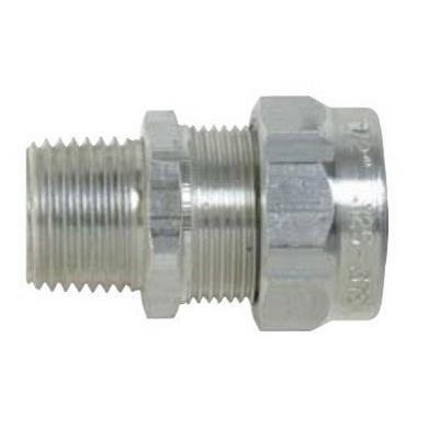 Thomas & Betts 2941AL Ranger® Liquidtight Strain Relief Connector; 1 Inch Threaded, 0.500 - 0.750 Inch, Aluminum