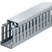 Thomas & Betts TY3X4NPG6 Narrow Slot Wiring Duct; 6 ft x 3 Inch x 4 Inch, Rigid PVC, Gray