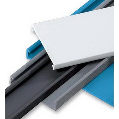 Thomas & Betts TY4CPG6 Wiring Duct Cover; 4 Inch, Rigid PVC, Gray