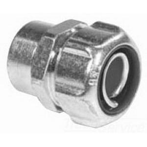 Thomas & Betts 5274 Straight Liquidtight Female Hub Adapter; 1 Inch, Steel, Electro-Plated Zinc/Chromate Coated