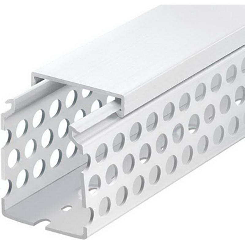 Thomas & Betts TY1X2RPG6 Wiring Duct; 6 ft x 1 Inch x 2 Inch, Rigid PVC, Gray