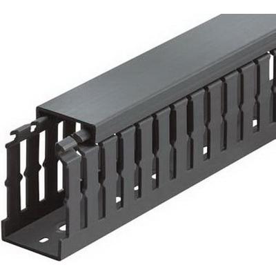 Thomas & Betts TY2X3NPB6 Wiring Duct; 6 ft x 2 Inch x 3 Inch, Rigid PVC, Black