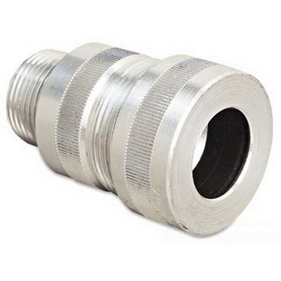 Thomas & Betts 2-050-020 Spin-On® Connector; 1/2 Inch, MNPT, 0.501 - 0.580 Inch, Aluminum