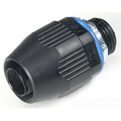 Thomas & Betts LT150P Xtra Flex® Plastic Bullet® Straight Liquidtight Connector; 1-1/2 Inch, Thermoplastic, NPT