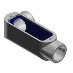 Thomas & Betts LL28 Type LL Conduit Body; 3/4 Inch, Form 8, Threaded, Malleable Gray Iron