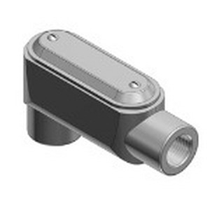 Thomas & Betts LB57CG-TB Type LB Pre-Assembled Conduit Body With Cover and Gasket; 1-1/2 Inch, Form 7, Threaded, Gray Iron