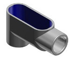 Thomas & Betts LB97 BlueKote® Type LB Conduit Body; 3-1/2 Inch, Form 7, Threaded, Gray Iron