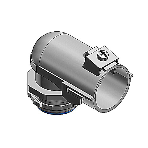 Thomas & Betts 3142 Tite-Bite® Insulated 90 Degree Connector; 3 Inch, Malleable Iron, Electro-Plated Zinc