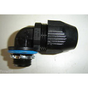 Thomas & Betts LT9200P Xtra Flex® Plastic Bullet® 90 Degree Liquidtight Connector; 2 Inch, Thermoplastic, NPT