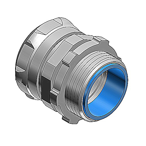 Thomas & Betts 5123 Compression Connector; 1/2 Inch, Steel, Electro-Plated Zinc