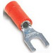 Thomas & Betts 18RA-6FL Sta-Kon® Vinyl Insulated Locking Fork Terminal; 22-16 AWG, #6 Stud, Red