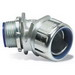 Thomas & Betts 5346 External Insulated 45 Degree Liquidtight Connector; 1-1/2 Inch, Malleable Iron, Electro-Plated Zinc/Chromate Coated, Tapered Threaded