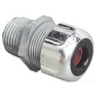 Thomas & Betts 2565 Liquidtight Strain Relief Cord Connector; 1-1/2 Inch Male, 1.375 - 1.625 Inch, Malleable Iron