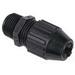 Thomas & Betts 2678 Black Beauty® Liquidtight Strain Relief Cord Connector; 1 Inch Threaded, 0.870 - 1.020 Inch, Nylon