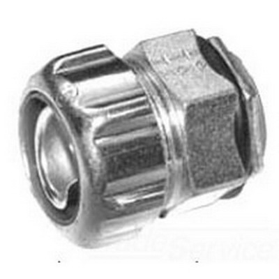 Thomas & Betts 5363 Chase® Insulated Liquidtight Connector; 3/4 Inch, Steel, Electro-Plated Zinc