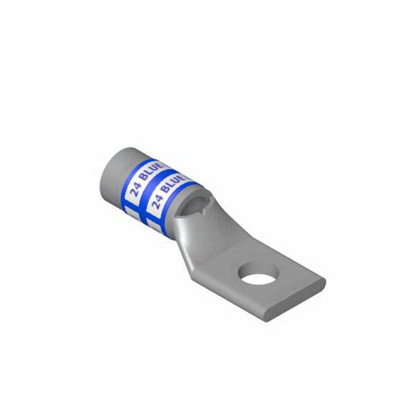 Thomas & Betts 54136 Standard Tongue Compression Lug; 1 Hole, 3/8 Inch Stud, 6 AWG, Blue