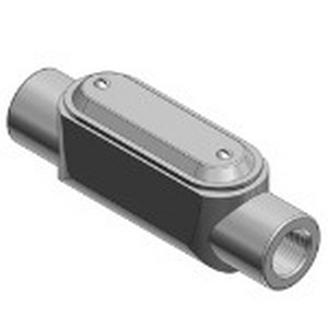 """Thomas & Betts C27CG-TB Type C Pre-Assembled Conduit Body With Cover and Gasket 3/4 Inch, Form 7, Class 30 Gray Iron Alloy,"""""""