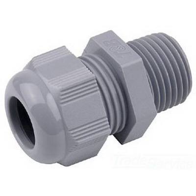Thomas & Betts CC-NPT-12-B Cable Gland Connector 1/2 Inch NPT 0.394 - 0.551 Inch Nylon 6