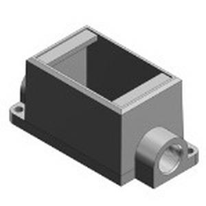 "Thomas & Betts FDC2-TB Deep Through-Feed 1-Gang FD Cast Device Box 2.810 Inch Depth, Iron, Gray, 3/4 Inch Hub,"""