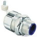 Thomas & Betts 5333GR Straight External Bonding Liquidtight Connector; 3/4 Inch, Steel, Electro-Plated Zinc/Chromate Coated, Tapered Threaded