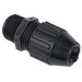 Thomas & Betts 2691 Black Beauty® Liquidtight Strain Relief Cord Connector; 1/2 Inch Threaded, 0.560 - 0.690 Inch, Nylon