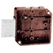 Union 4020-1-02 Square Outlet Box; Phenolic, 4-5/16 Inch Width x 1-1/4 Inch Depth, 16 Cubic-Inch, Brown, 1/2 Inch Raised Face Bracket Mount