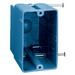 Union RN-23 1-Gang Switch/Outlet Box; 3-3/8 Inch Depth, PVC, 22.5 Cubic-Inch, Blue