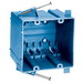 Union SN-241 2-Gang Switch/Outlet Box; 4 Inch Depth, PVC, 41 Cubic-Inch, Blue