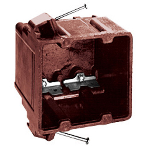 Union 1072-C 2-Gang Outlet Box; 3-7/8 Inch Depth, Phenolic, 40.5 Cubic-Inch, Brown