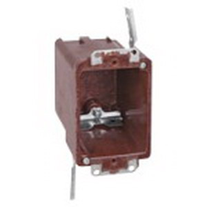 Union 6070-4-UB 1-Gang Switch/Outlet Box; 3-1/4 Inch Depth, Phenolic, 18 Cubic-Inch, Brown
