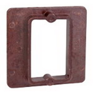 Union 4042-12 1-Device Raised 1-Gang Square Plaster Ring; 4-1/4 Inch Width x 1/2 Inch Depth x 4-1/4 Inch Height, Phenolic, Brown, 4 Cubic-Inch